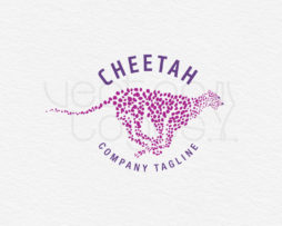 cheetah logo design template