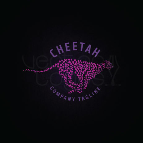 cheetah logo design template