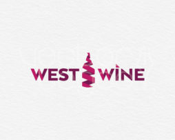 west wine logo design template