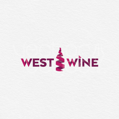 west wine logo design template