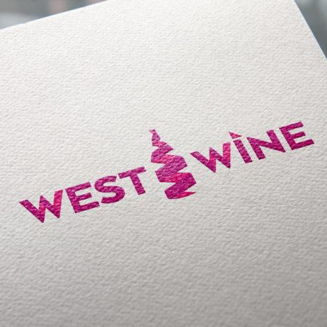 west wine logo design mockup