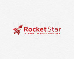 Rocket Star internet service provider logo design preview 1