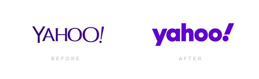 yahoo! logo evolution until 2019