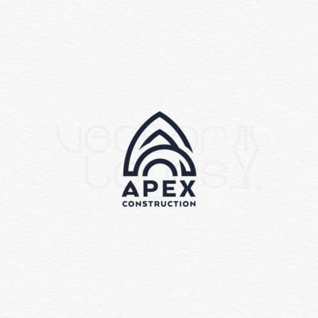 Apex construction logo white