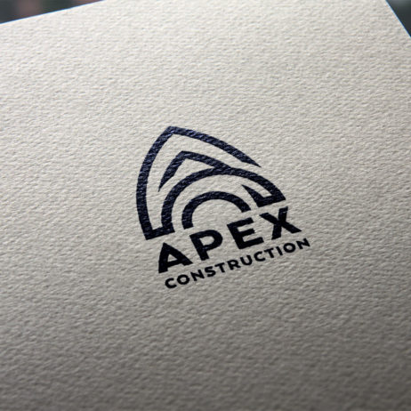 Apex construction logo mockup