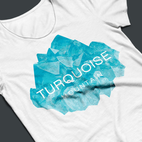 turquoise mountain logo mockup