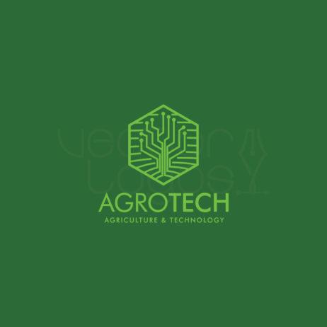 agrotech logo design negative