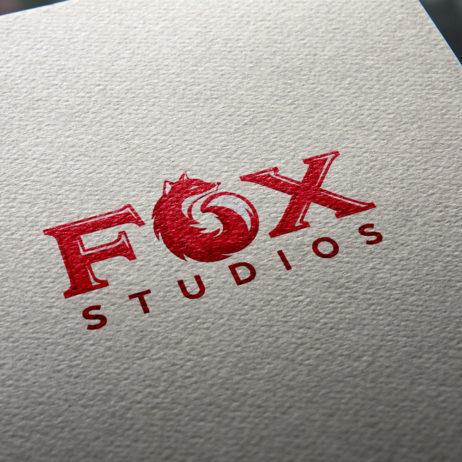 Fox Studios logo mockup