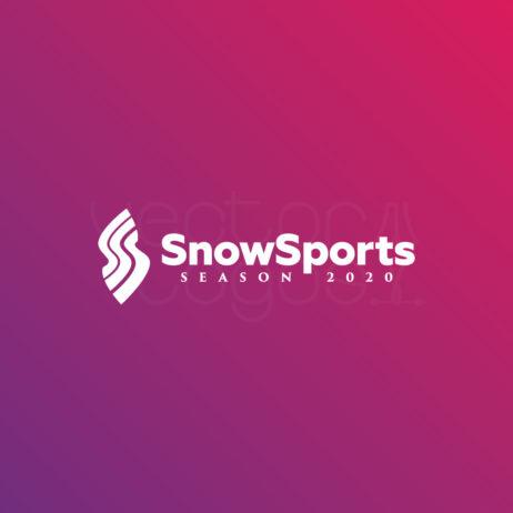 SnowSports Season logo negative