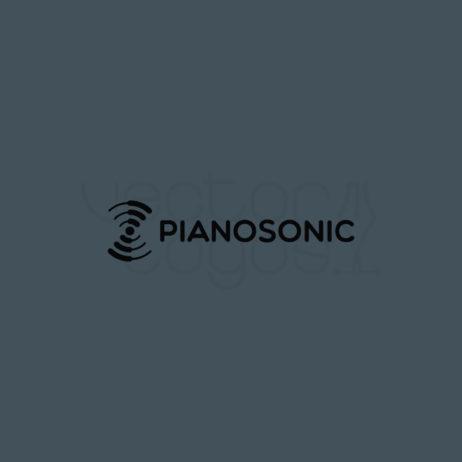 PianoSonic logo design grey