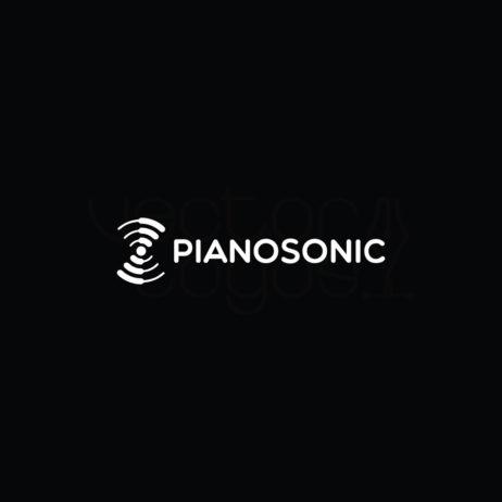PianoSonic logo design black