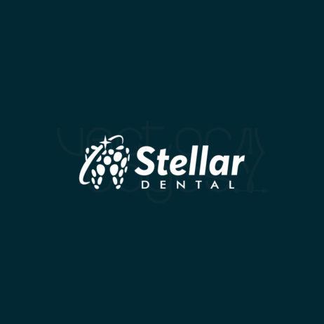 Stellar Dental logo design white 2