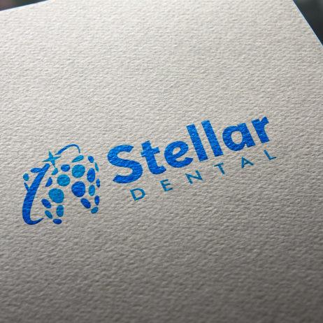 Stellar Dental logo bc mockup