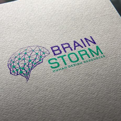 brainstorm business cards mock-up