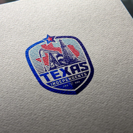 texas independents business card mock-up