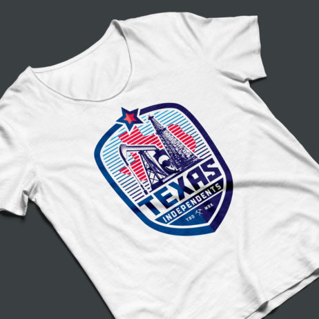 texas independents t-shirt mock-up
