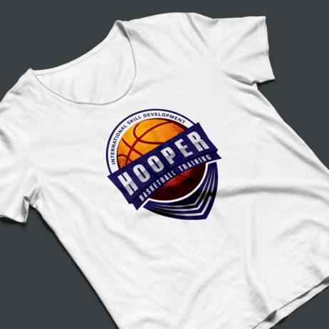 Hooper Basketball logo t-shirt mockup