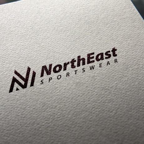 North East logo business card mockup