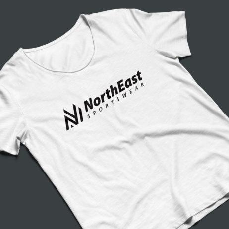 North East logo t-shirt mockup