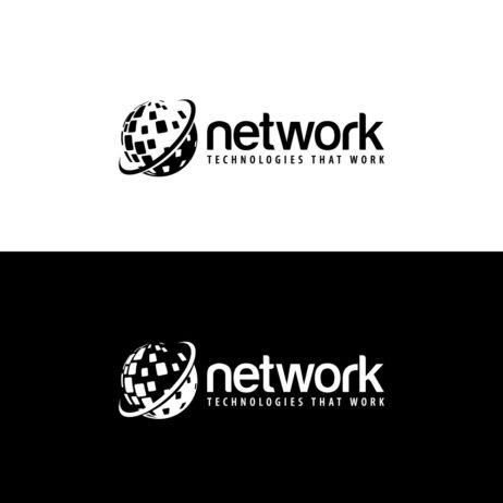 network logo black and white