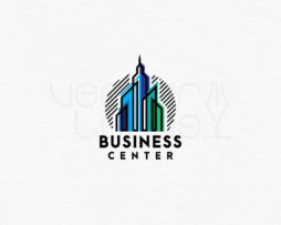 Business Center logo design template