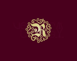 Decorative Monogram Letter R