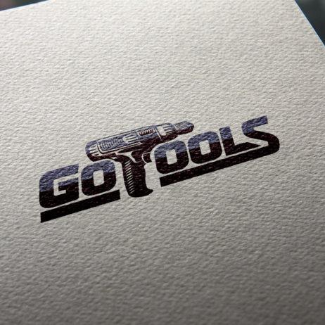GoTools logo design business card mock-up