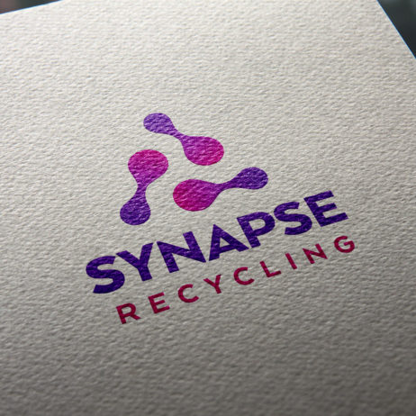 synapse recycling logo business cards mock-up