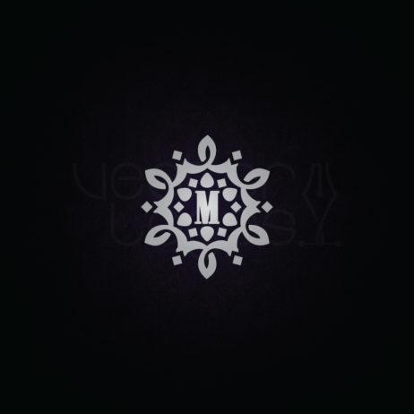 vintage monogram letter m design