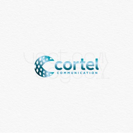 cortel communication logo design