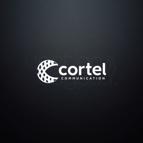 cortel communication logo negative