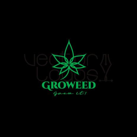 groweed logo dark background
