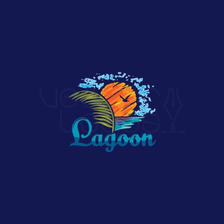 lagoon resort logo design