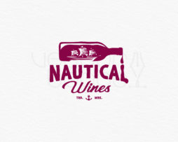 nautical wines logo design color