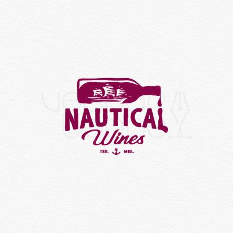 nautical wines logo design color