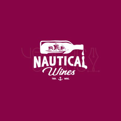 nautical wines logo invert