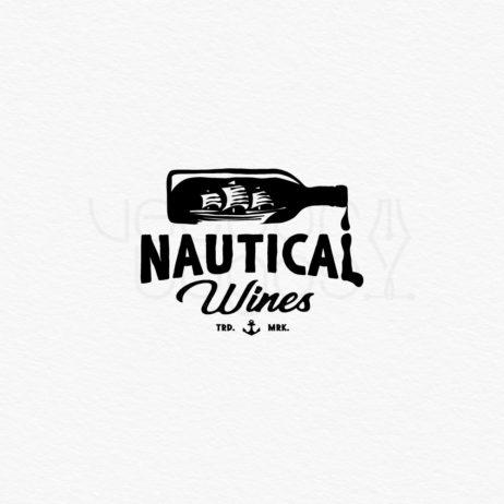 nautical wines logo black