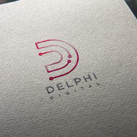 Delphi Digital logo business card mock-up