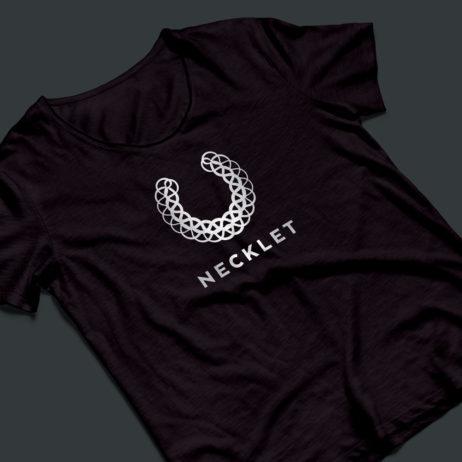 necklet logo t-shirt mock-up