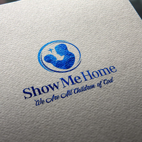 show me home logo business card mock-up