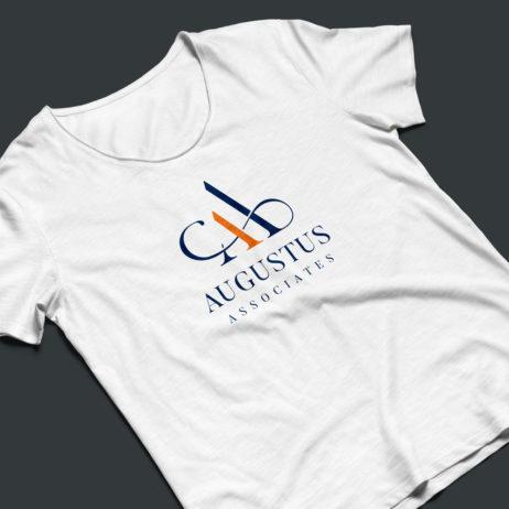 Augustus associates logo t-shirt mock-up