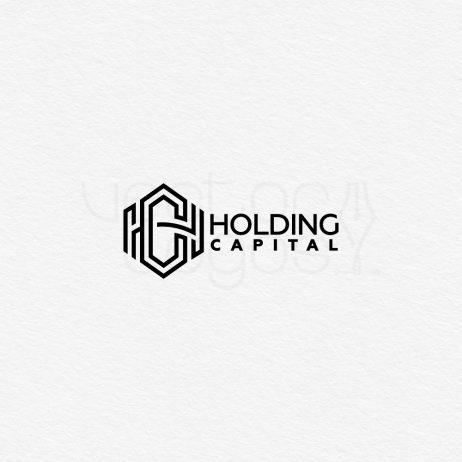 Holding Capital logo design black