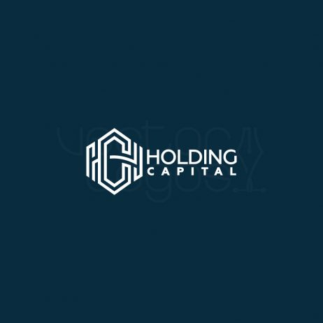 Holding Capital logo design color bg