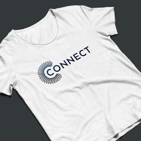 connect logo design t-shirt mock-up