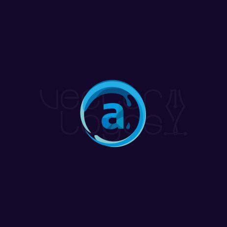 aqua logo dark background