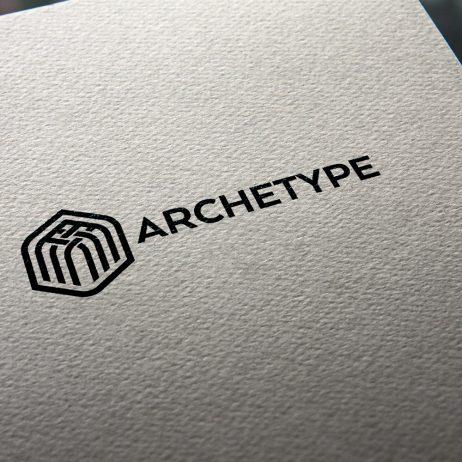 archetype logo business card mock-up