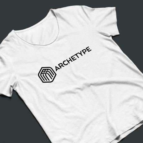 archetype logo t-shirt mock-up