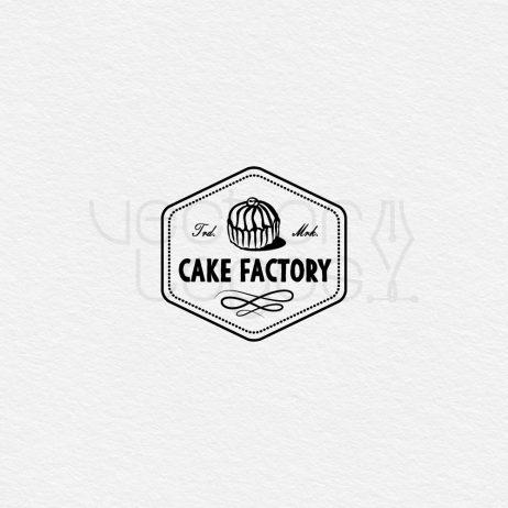 cake factory logo black