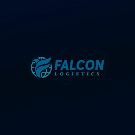 falcon logistics logo color bg