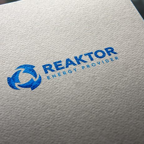 reaktor logo business card mock-up